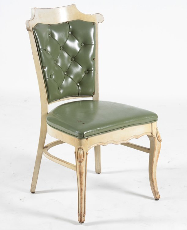 SET OF 16 CARVED DINING CHAIRS C.1960 - 4