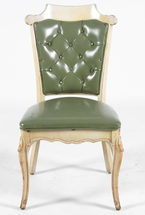 SET OF 16 CARVED DINING CHAIRS C.1960 - 5