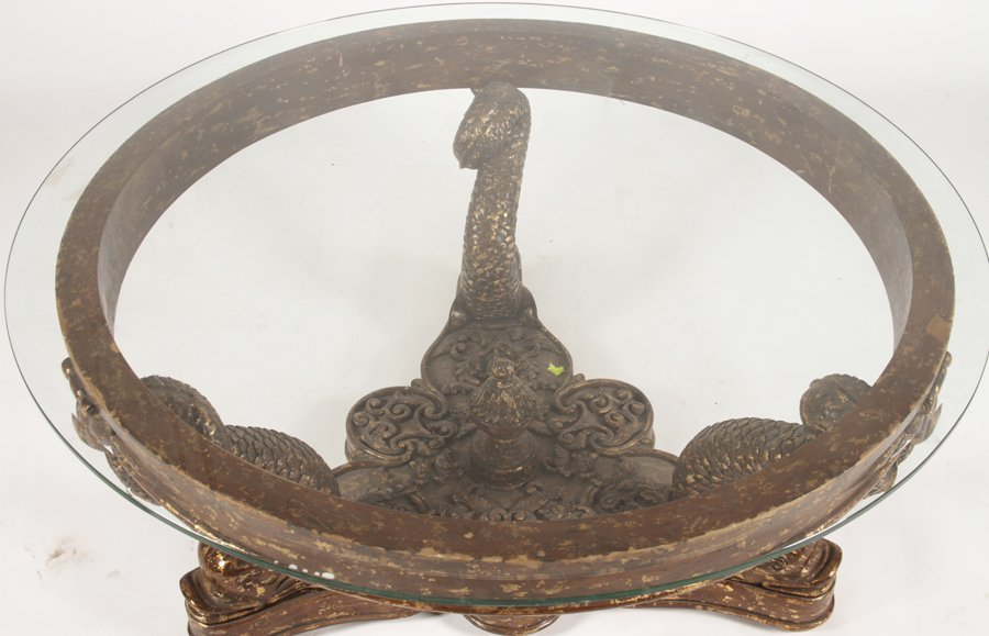 CONTINENTAL GILTWOOD CARVED COFFEE TABLE 1960 - 2