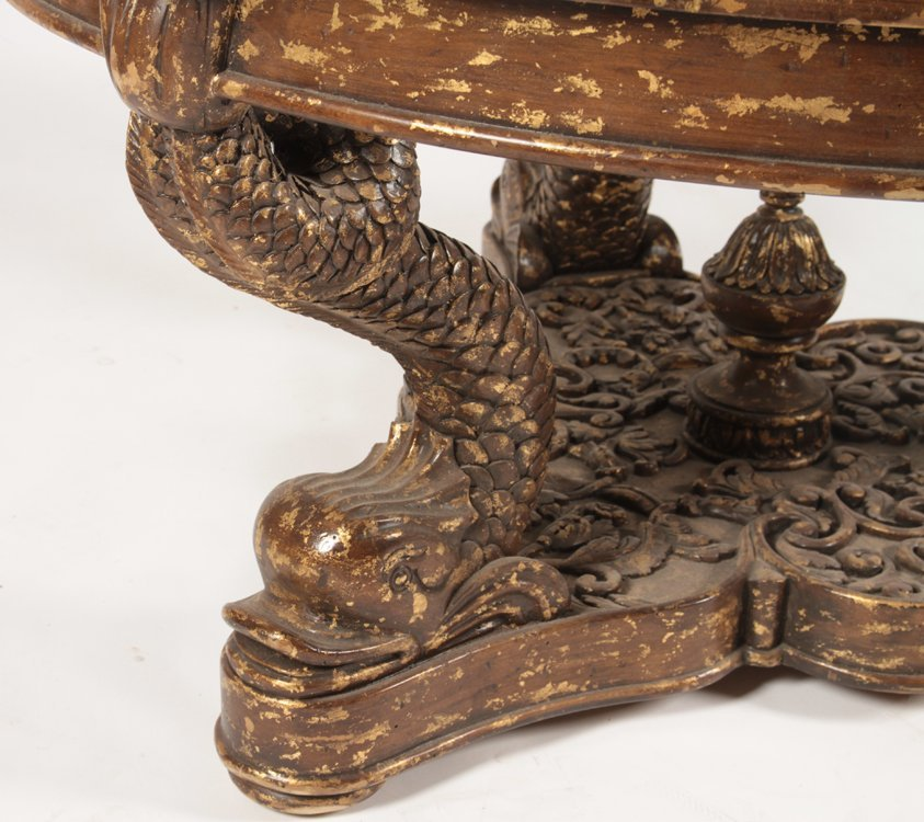 CONTINENTAL GILTWOOD CARVED COFFEE TABLE 1960 - 3