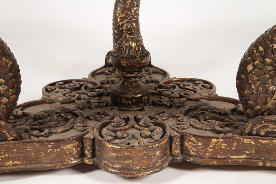 CONTINENTAL GILTWOOD CARVED COFFEE TABLE 1960 - 4