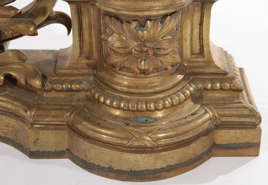 PAIR OF FRENCH NEOCLASSICAL BRONZE CHENETS C.1900 - 5