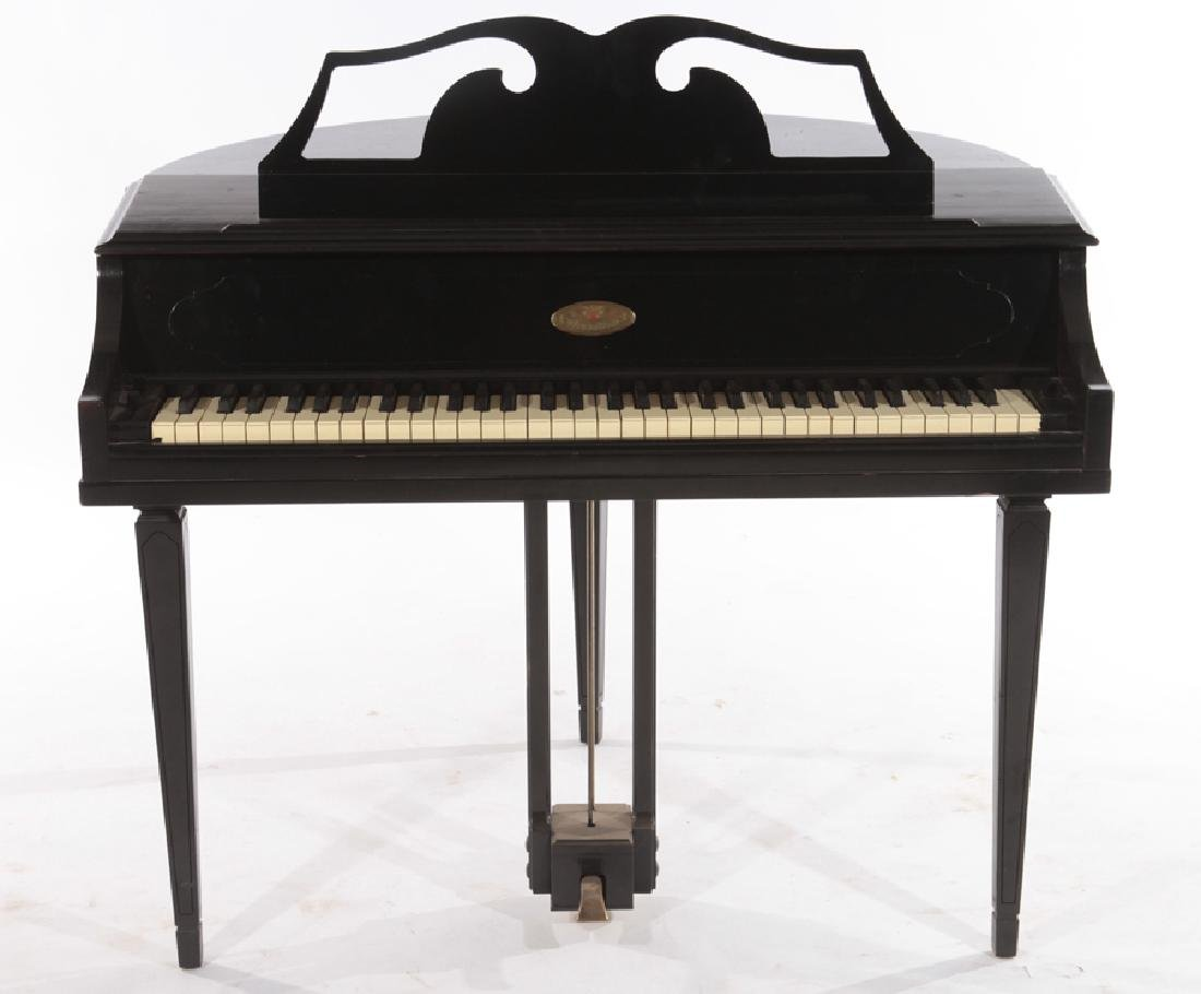 LABELED WURTLIZER ELECTIC PIANO WITH BENCH - 3