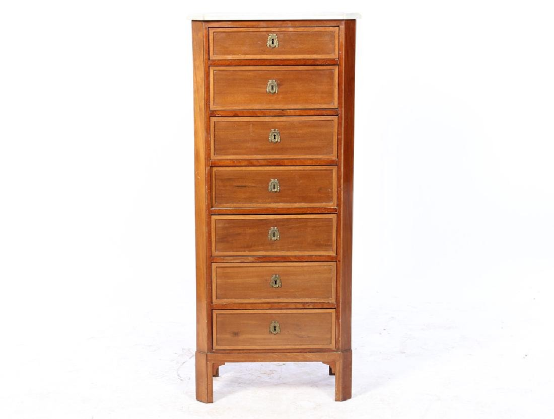 RESTORATION MAHOGANY 7 DRAWER LINGERIE CHEST 1920