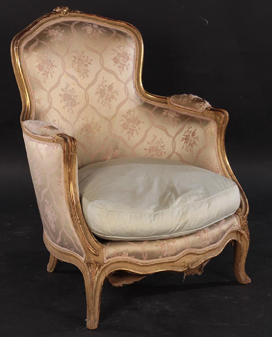 PAIR 19TH CENT. FRENCH LOUIS XV GILTWOOD BERGERES - 2