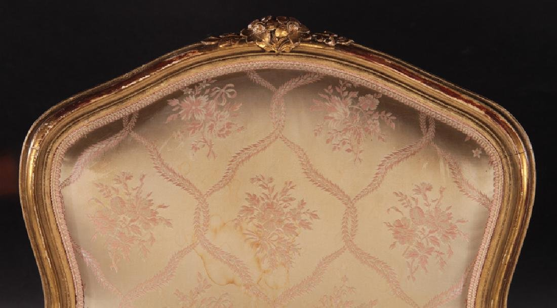 PAIR 19TH CENT. FRENCH LOUIS XV GILTWOOD BERGERES - 4