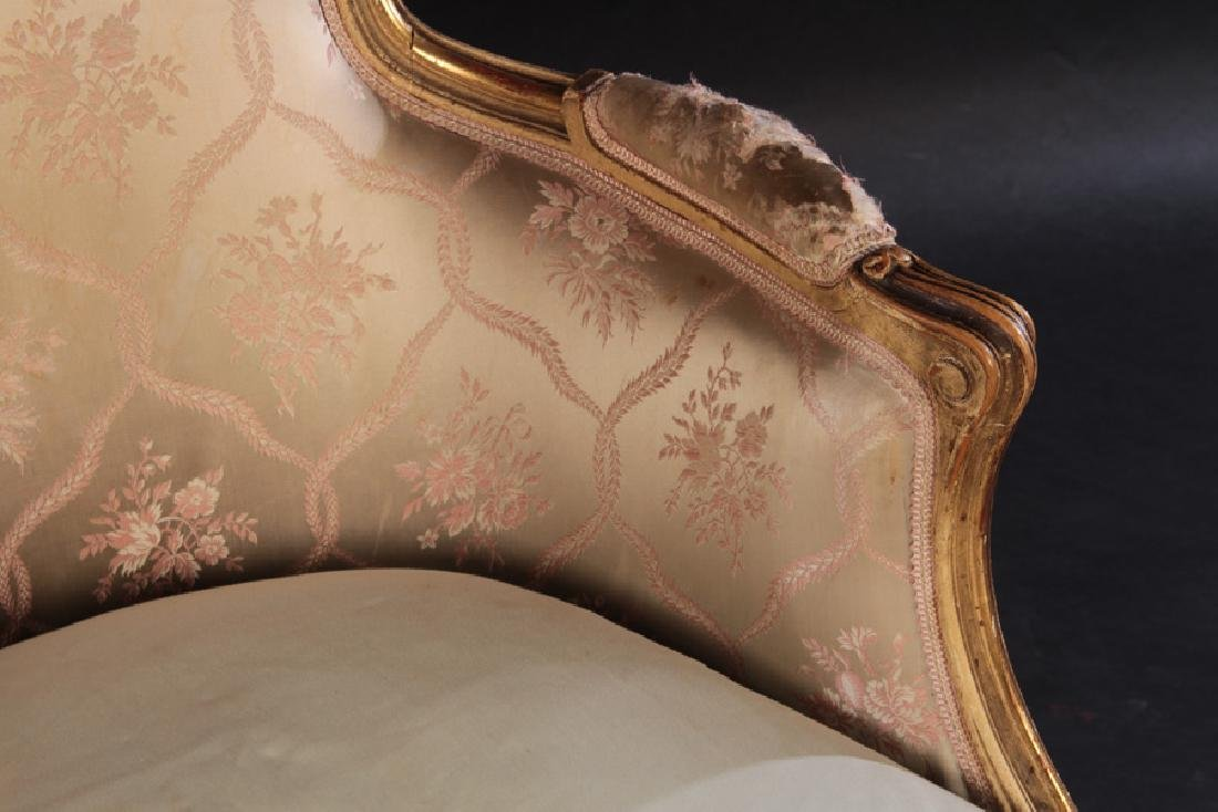 PAIR 19TH CENT. FRENCH LOUIS XV GILTWOOD BERGERES - 5