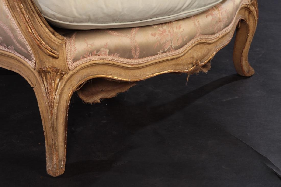 PAIR 19TH CENT. FRENCH LOUIS XV GILTWOOD BERGERES - 6