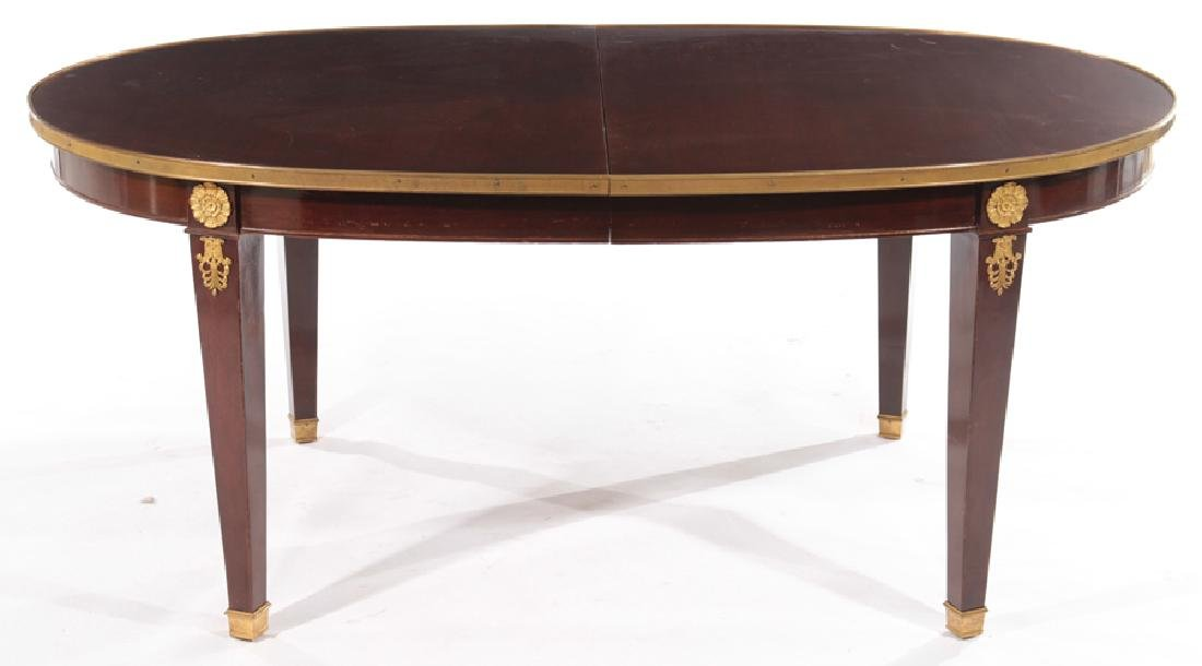 FRENCH EMPIRE STYLE MAHOGANY DINING TABLE 1940 - 2