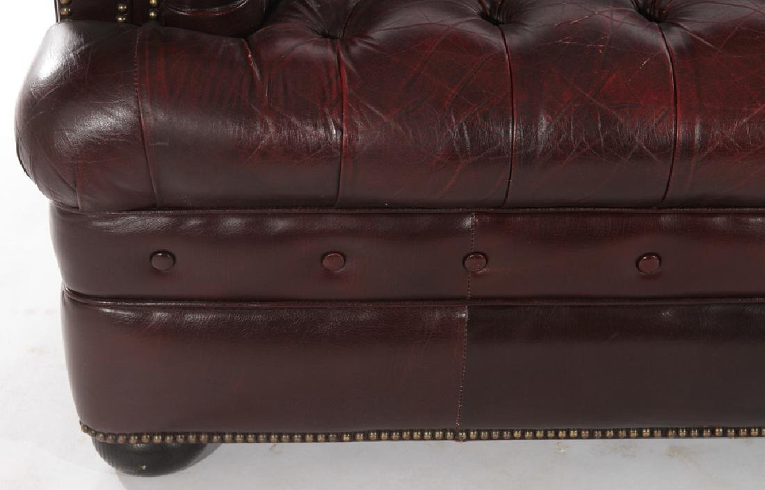 LEATHER CHESTERFIELD STYLE SETTEE C.1950 - 4