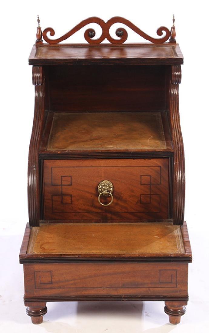 PERIOD MAHOGANY REGENCY LIBRARY STEPS CIRCA 1830 - 2