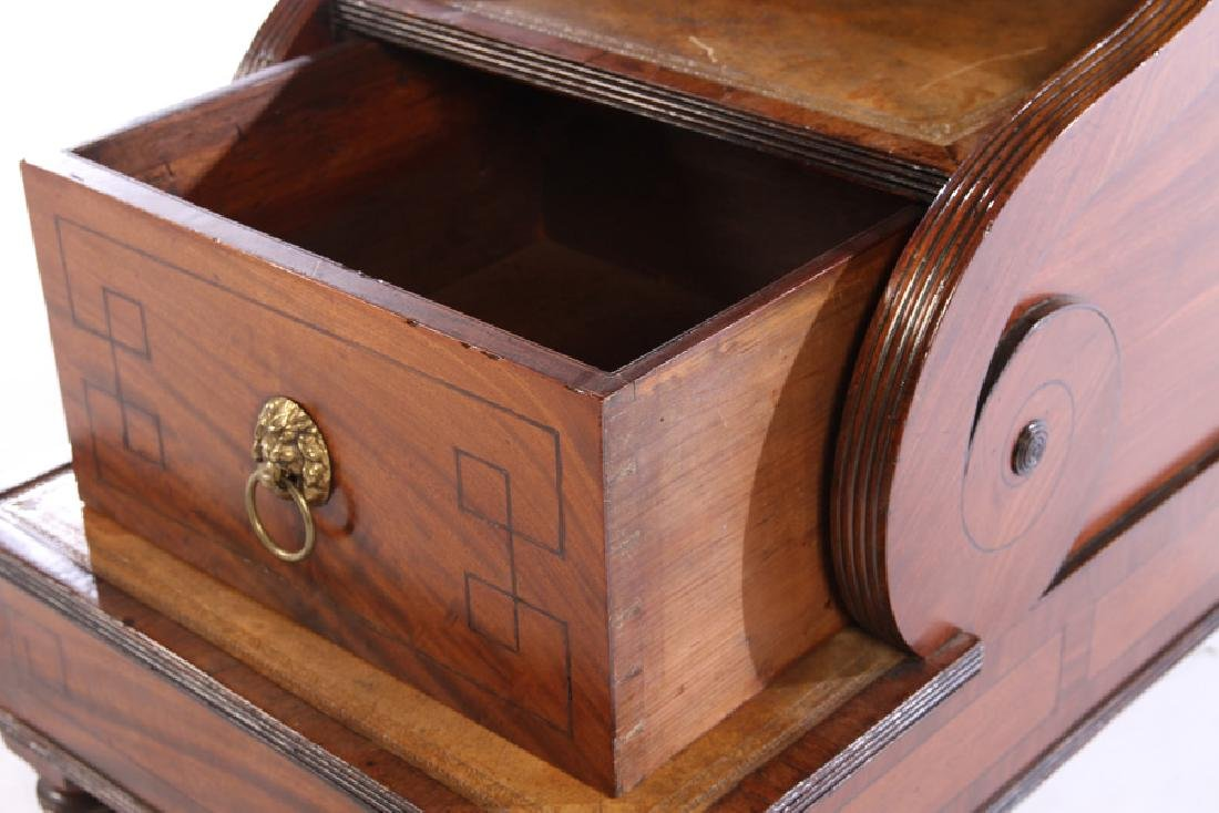 PERIOD MAHOGANY REGENCY LIBRARY STEPS CIRCA 1830 - 4