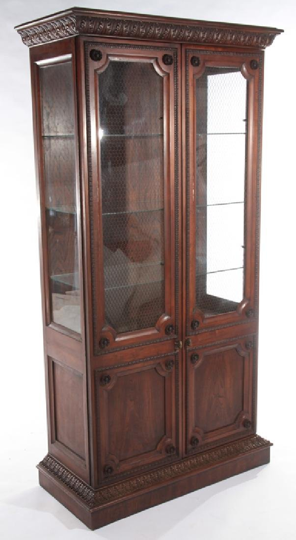 LABELED BAKER BOOKCASE WITH 2 GLASS FRONT DOORS - 2