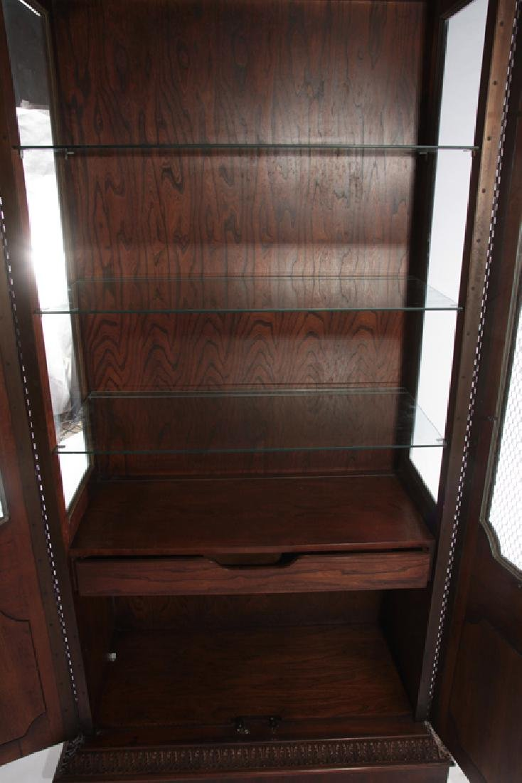 LABELED BAKER BOOKCASE WITH 2 GLASS FRONT DOORS - 5
