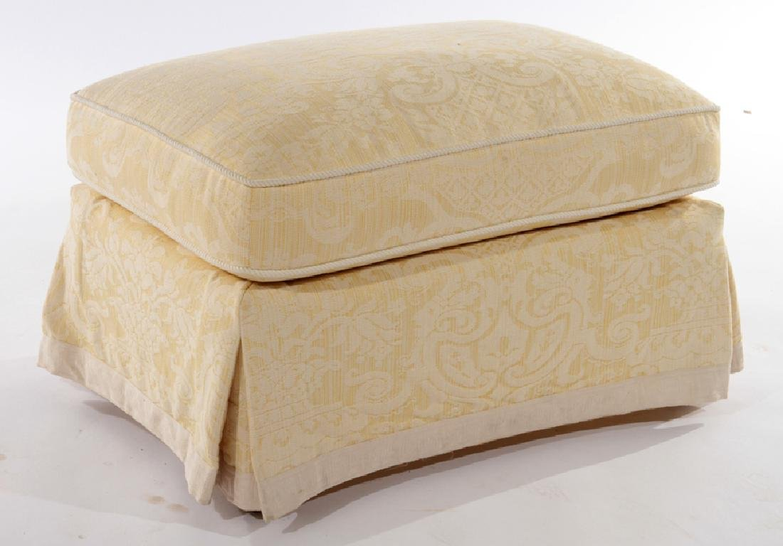 UPHOLSTERED OTTOMAN CUSHION TOP & SKIRT