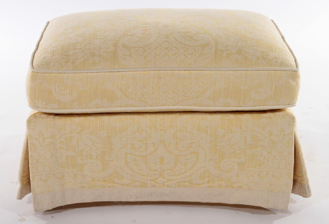 UPHOLSTERED OTTOMAN CUSHION TOP & SKIRT - 2