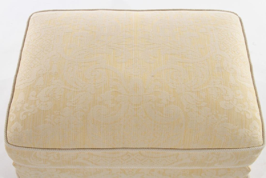 UPHOLSTERED OTTOMAN CUSHION TOP & SKIRT - 3