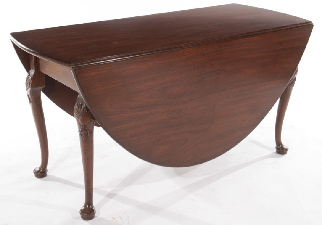 KITTINGER MAHOGANY QUEEN ANNE DINING TABLE