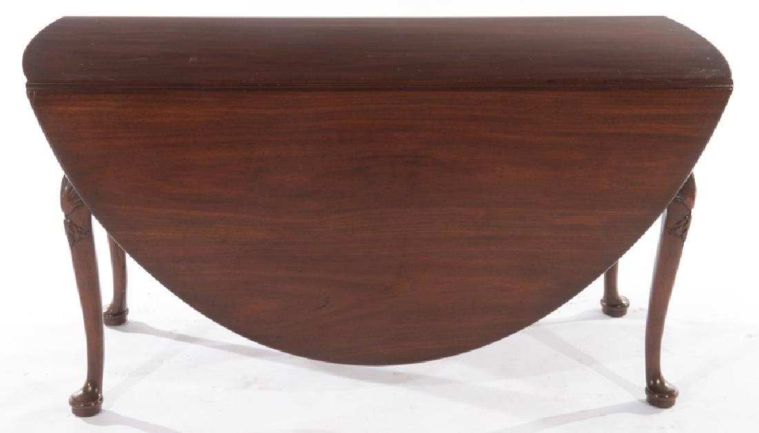 KITTINGER MAHOGANY QUEEN ANNE DINING TABLE - 2