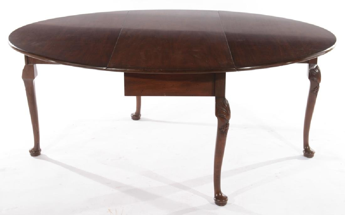 KITTINGER MAHOGANY QUEEN ANNE DINING TABLE - 3
