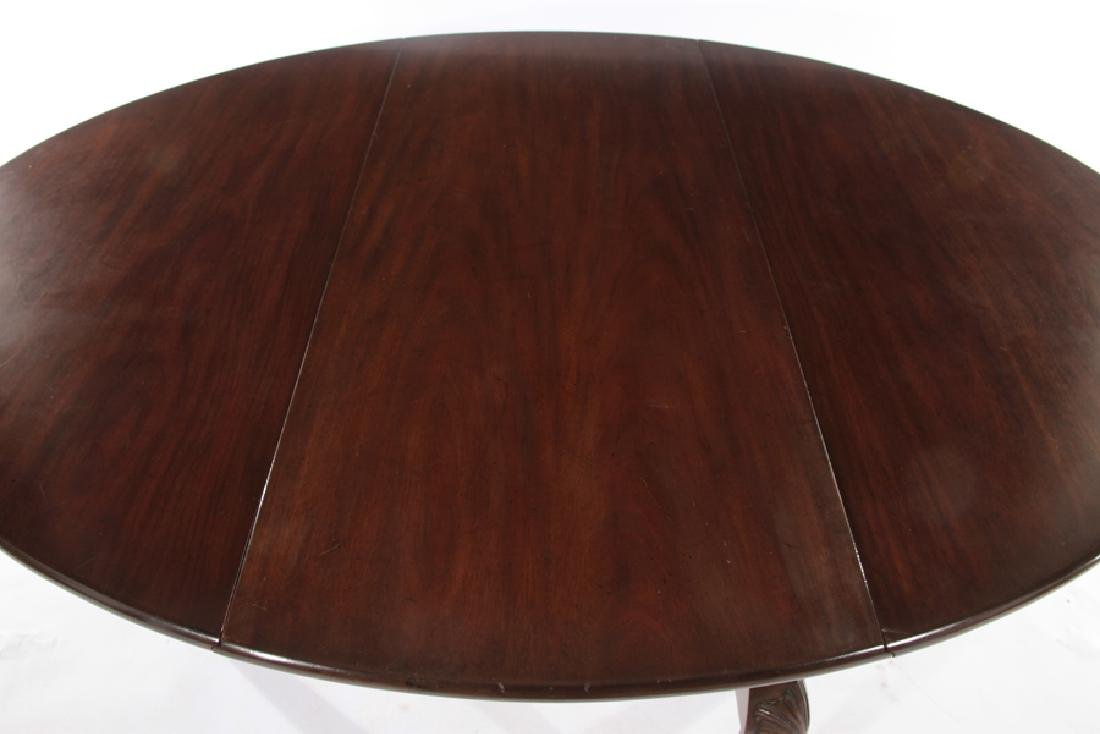 KITTINGER MAHOGANY QUEEN ANNE DINING TABLE - 4