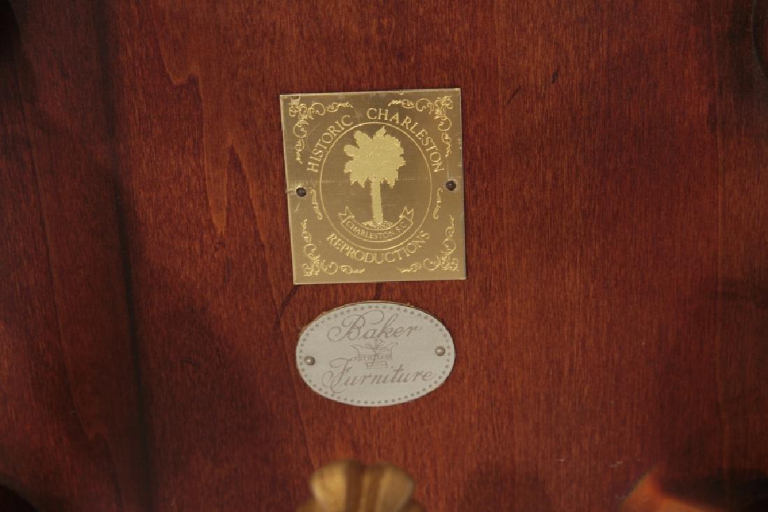 LABELED BAKER MAHOGANY GEORGE III FLIP TOP TABLE - 8