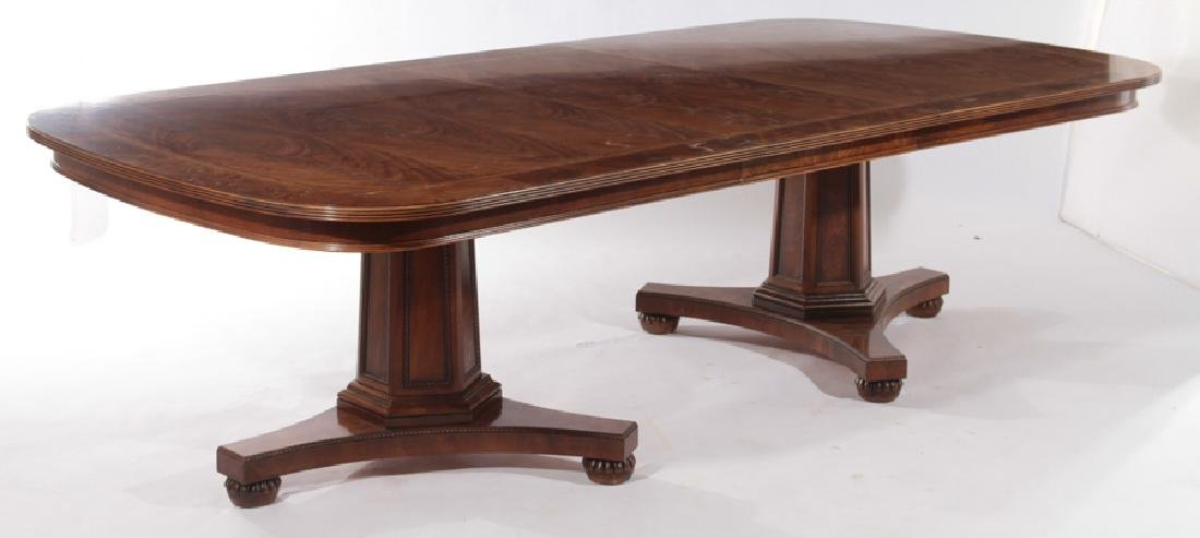 LABELED HENREDON GEORGE III STYLE DINING TABLE - 2