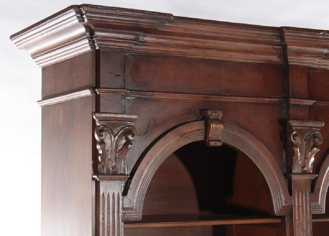 A CARVED WOOD 2-PART BOOKCASE ITALIAN - 3