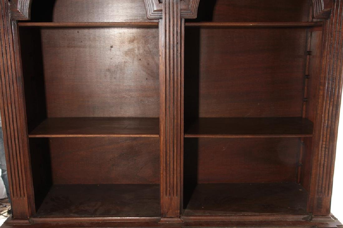 A CARVED WOOD 2-PART BOOKCASE ITALIAN - 4