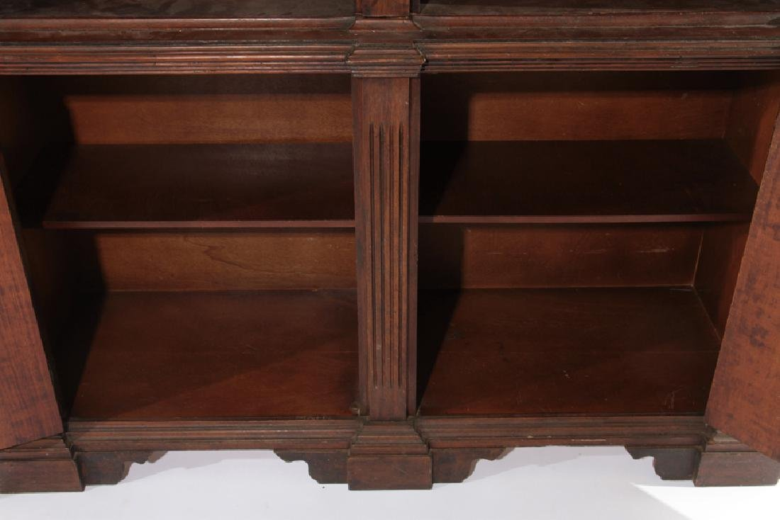 A CARVED WOOD 2-PART BOOKCASE ITALIAN - 5