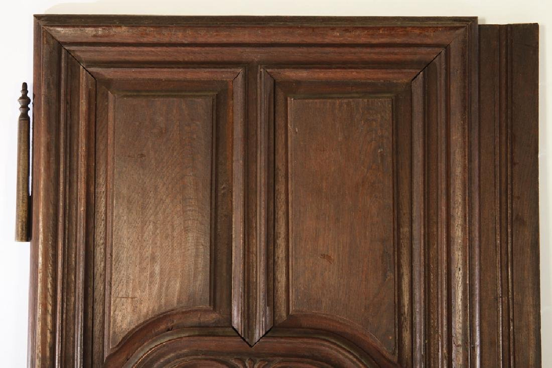 PAIR 19TH C. FRENCH CARVED WALNUT DOORS - 2
