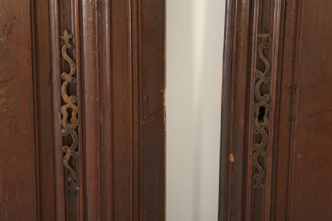 PAIR 19TH C. FRENCH CARVED WALNUT DOORS - 3