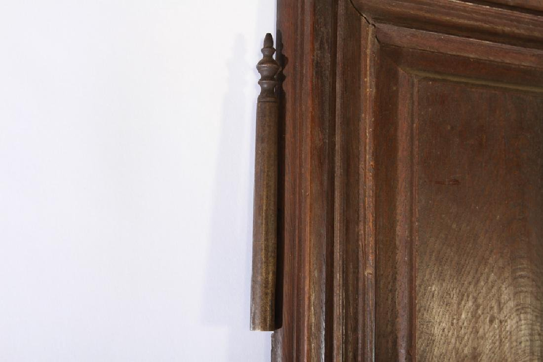 PAIR 19TH C. FRENCH CARVED WALNUT DOORS - 4