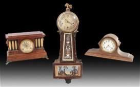 3 AMERICAN CLOCKS C.1910-1930 SETH THOMAS