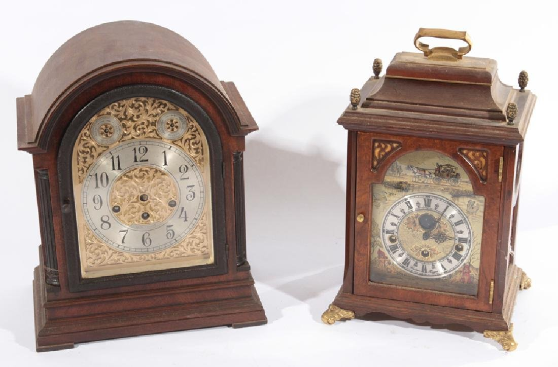 2 MANTLE CLOCKS SETH THOMAS CHRISTIAN HUYGENS