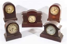 5 AMERICAN MANTLE CLOCKS SETH THOMAS NEW HAVEN