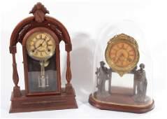 TWO AMERICAN MANTLE CLOCKS CIRCA 1920
