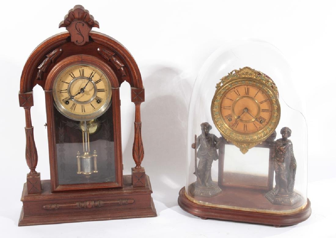 TWO AMERICAN MANTLE CLOCKS CIRCA 1920