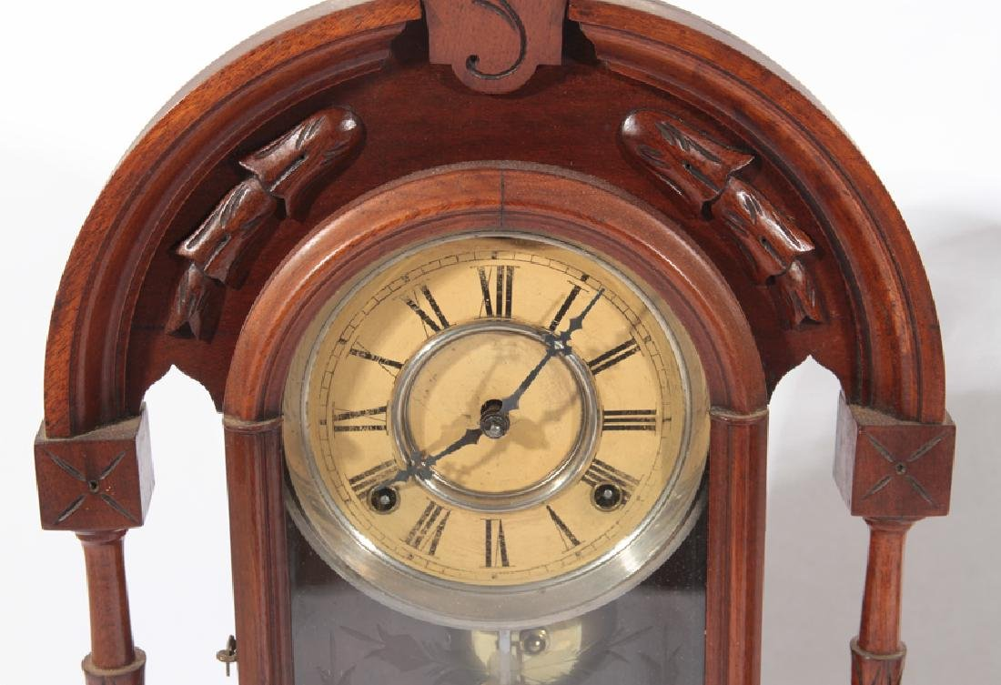 TWO AMERICAN MANTLE CLOCKS CIRCA 1920 - 2