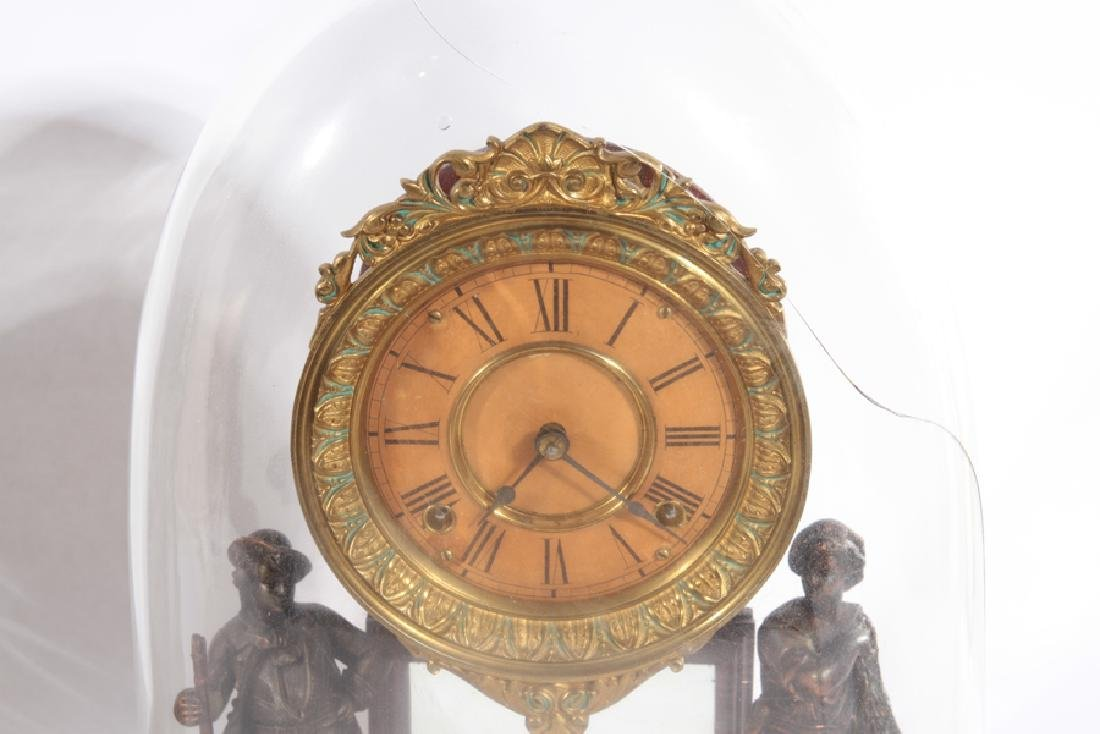 TWO AMERICAN MANTLE CLOCKS CIRCA 1920 - 4