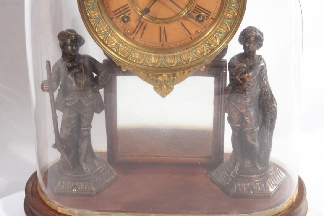 TWO AMERICAN MANTLE CLOCKS CIRCA 1920 - 5