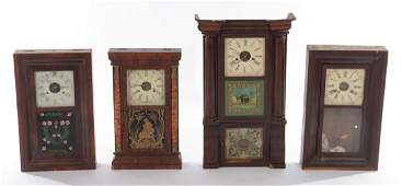 4 19TH CENTURY OGEE COLUMNAR MANTLE CLOCKS 1840