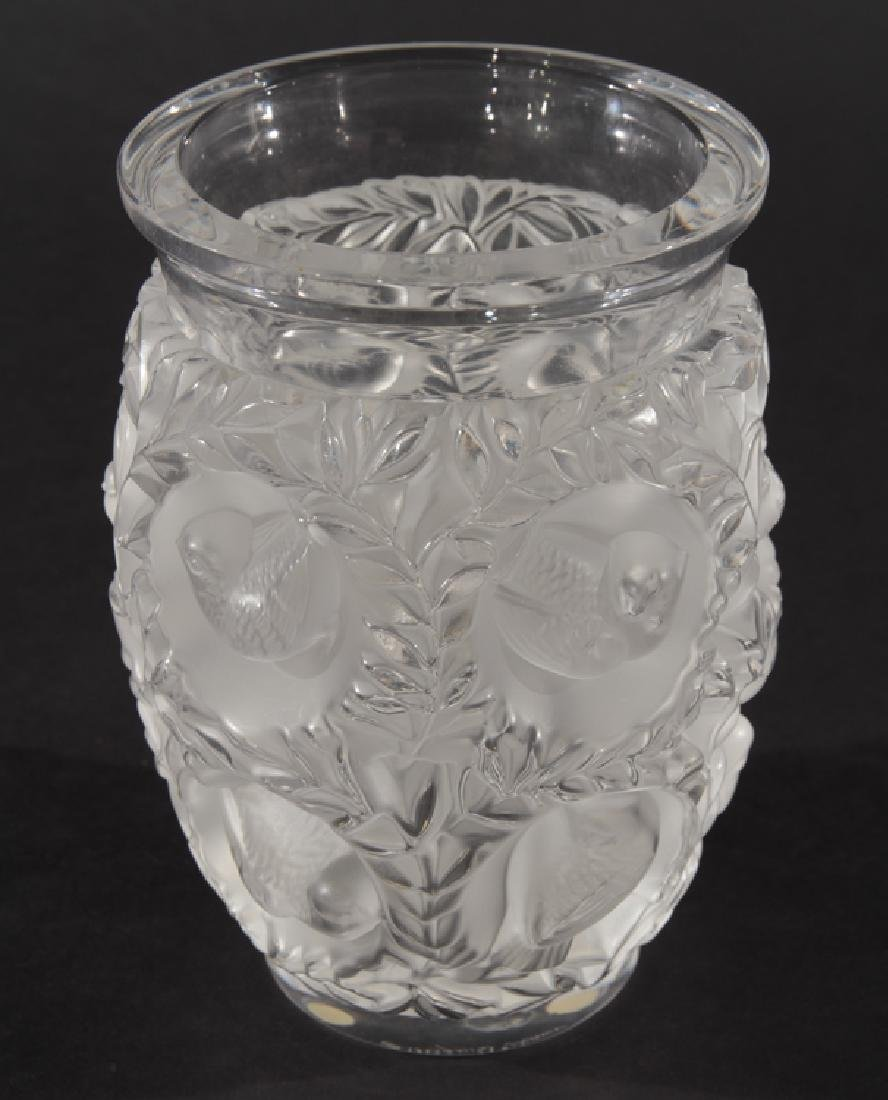 LALIQUE BAGATELLE CRYSTAL VASE SIGNED