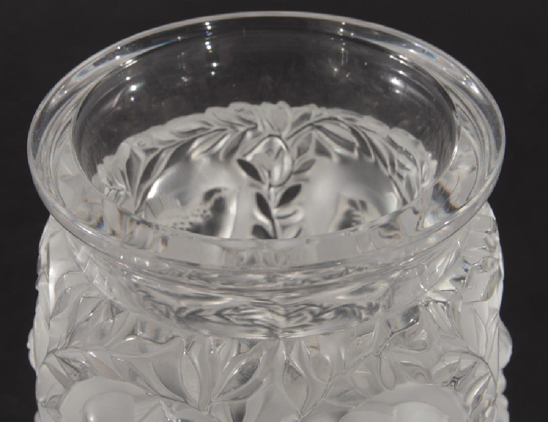 LALIQUE BAGATELLE CRYSTAL VASE SIGNED - 2