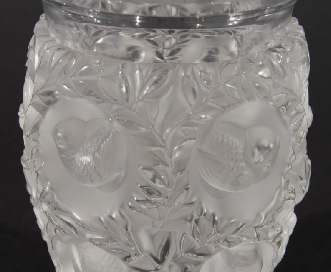 LALIQUE BAGATELLE CRYSTAL VASE SIGNED - 3