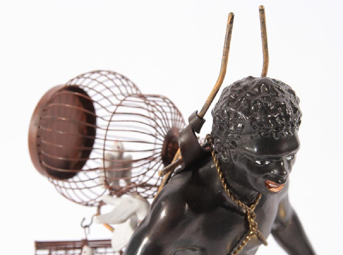 PAIR OF BLACKAMOORE FIGURINES ATOP BRASS STANDS - 2