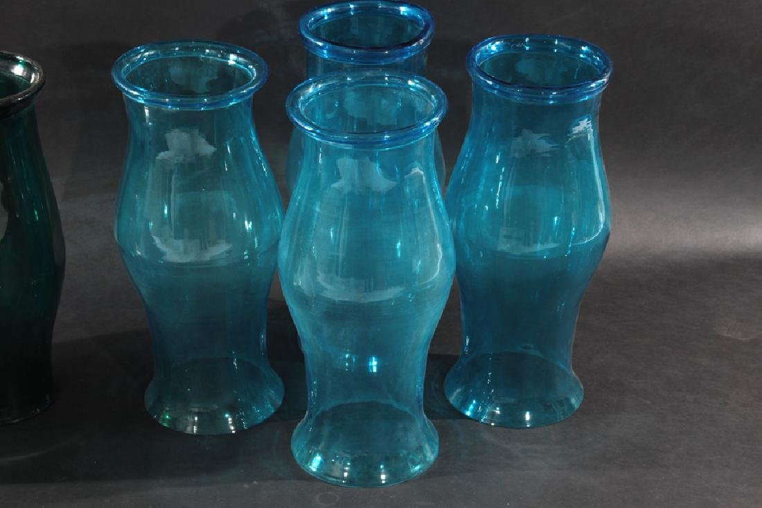 HURRICANE FORM GLASS SHADES IN BLUE AND GREEN - 2