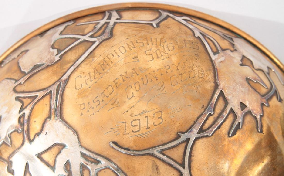 ARTS & CRAFTS SILVER OVERLAY COPPER TROPHY 1913 - 5