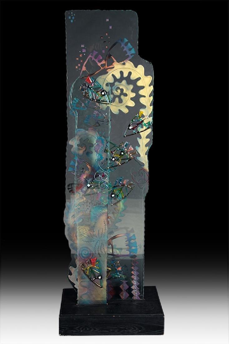 CONTEMPORARY GLASS SCULPTURE SEA LIFE DECORATIONS
