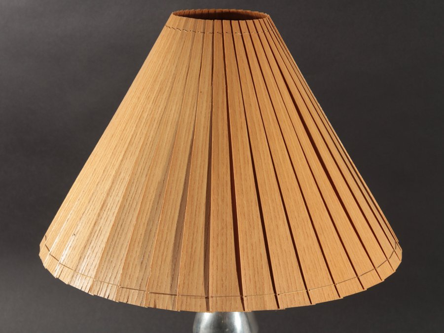 ART DECO STYLE BULLET FORM METAL TABLE LAMP - 2
